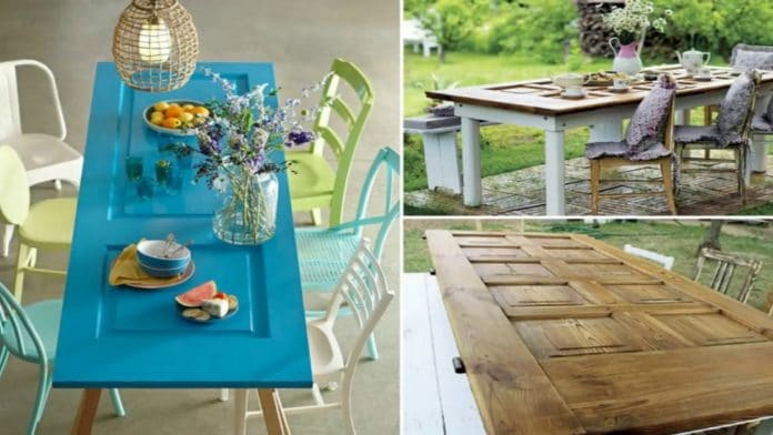 reuse-old-door-dining-table